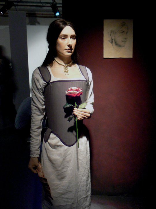 Anne Boleyn reconstruction (wearing her Coronation gown) at Hever Castle Kent UK by Emily Pooley  22 year old Technical and Special Effects artist.