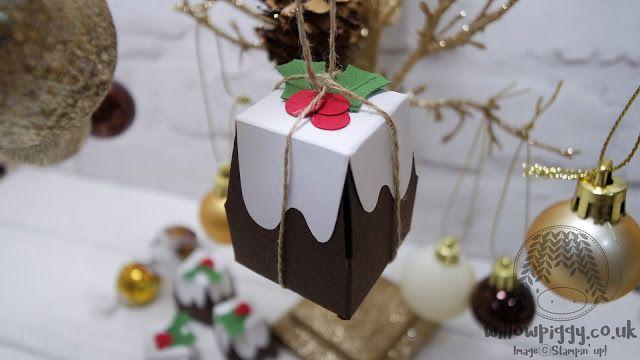 Willowpiggy.co.uk Stampin' Up! Independent Demonstrator - Jerim Dickins: Christmas Pudding (trapezoid box) Chocolate Box/Holder_Sunday Christmas/Holiday_#19_2016(Stampin up)