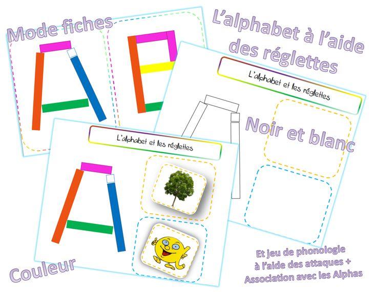 Les lettres de l'alphabet avec les réglettes Cuisenaire - dys é moi Zazou et Madel