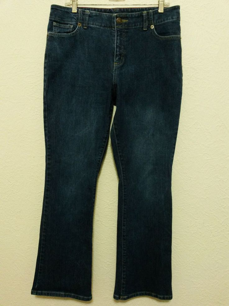 "Lands' End - Women's Stretch Blue Jeans Size 14 with 30"" Inseam Denim Pants #LandsEnd #BootCut ..... Visit all of our online locations ..... (www.stores.eBay.com/variety-on-a-budget) ..... (www.amazon.com/shops/Variety-on-a-Budget) ..... (www.etsy.com/shop/VarietyonaBudget) ..... (www.bonanza.com/booths/VarietyonaBudget ) .....(www.facebook.com/VarietyonaBudgetOnlineShopping)"