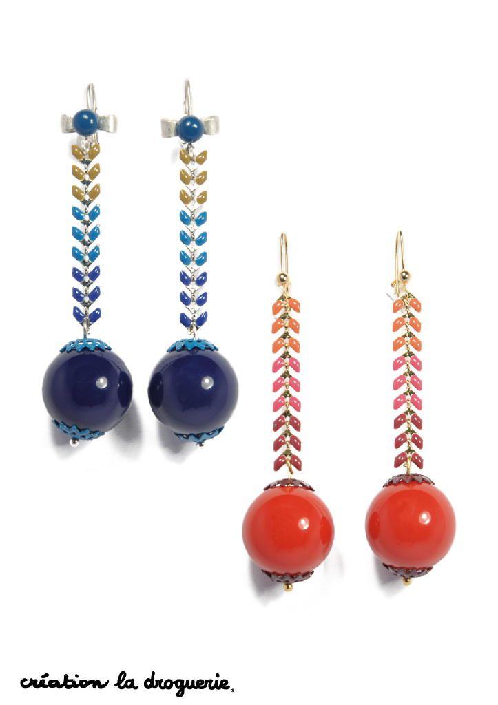 Des BO en rouge ou en bleu ? On hésite !! #ladroguerie #bo #bijoux