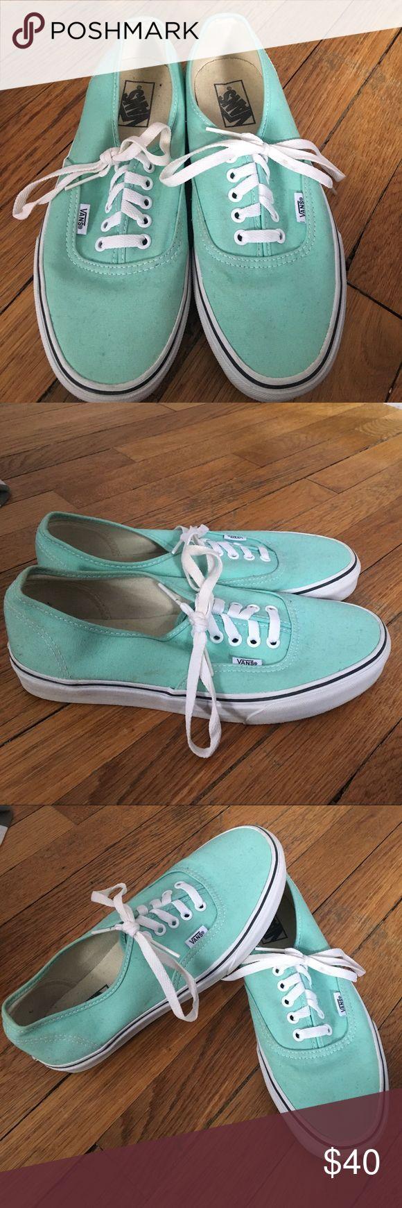 Mint Green Vans Men's Size 8 Unisex Worn a handful of times Vans Shoes Sneakers
