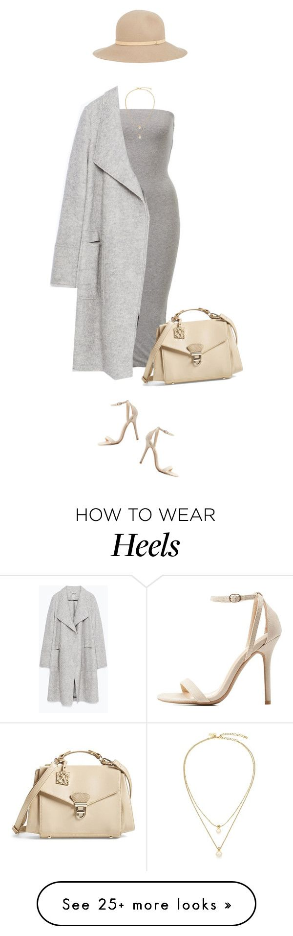 """""""Favorite combo at the moment !"""" by azzra on Polyvore featuring Zara, Charlotte Russe, CXL by Christian Lacroix, rag & bone, Kate Spade, classic, classy and nudeandgrey"""