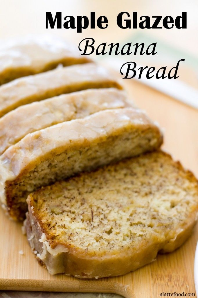 This bread is packed with bananas to make it the moistest, tastiest banana bread out there! Plus, it's topped with an incredible maple glaze. It's SO good.