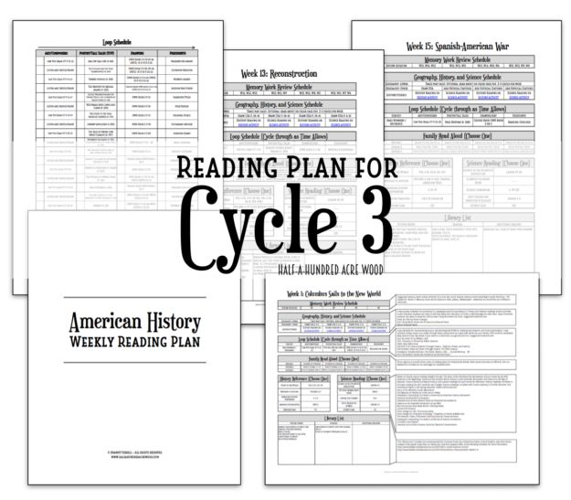 Free American History Reading Plans; may be used with CC Cycle 3