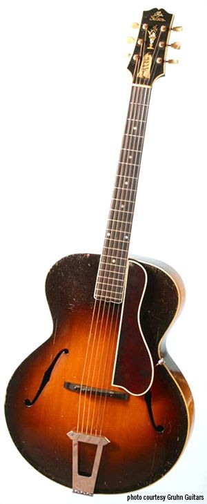 Legendary Guitars: Maybelle Carter's 1928 Gibson L-5.  Maybelle Carter of the Carter Family, mother of June Carter and mother-in-law of Johnny Cash, was one of the most influential and imitated guitarists in early country music.  This was her beloved guitar.