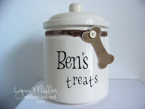 cricut dog treats jar