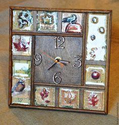 Мастер-класс: декорирование часов «Золотая осень» - Ярмарка Мастеров - ручная работа, handmade