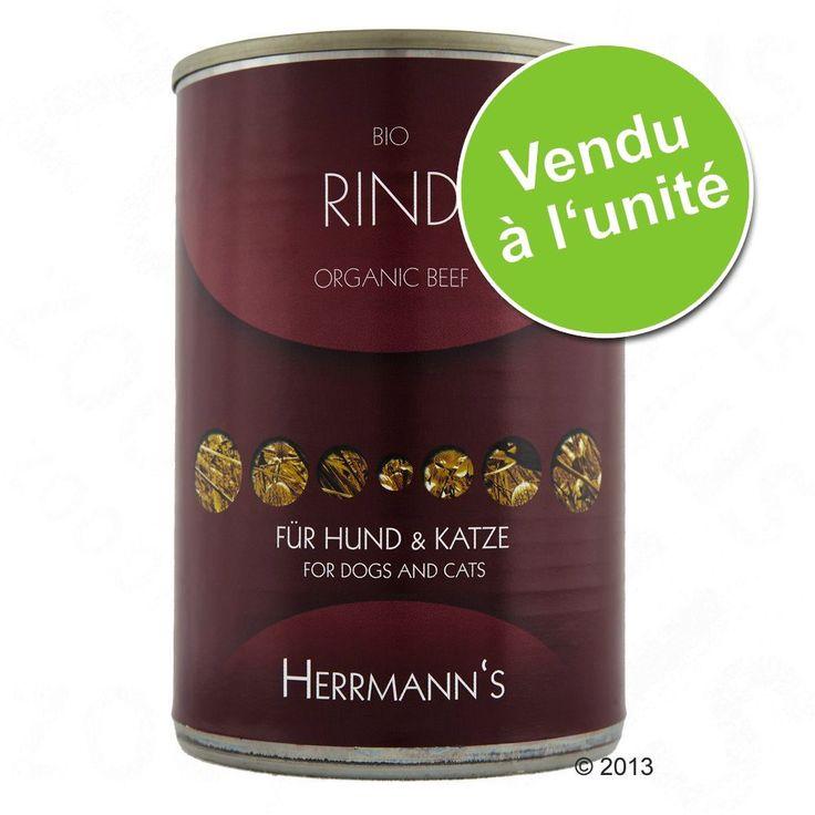 Animalerie  Herrmanns Pure Viande 1 x 400 g pour chien et chat  pure chèvre