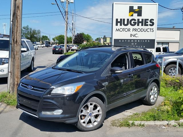 2013 Ford Escape SEL, Wagon, Automatic. Comes fully Equipped with:  4WD, Leather Seats, All Power Options, Turbocharged, ABS, Alarm System/Anti-Theft System,  Sunroof and much more. Call Hughes Motor Products 416-252-1100