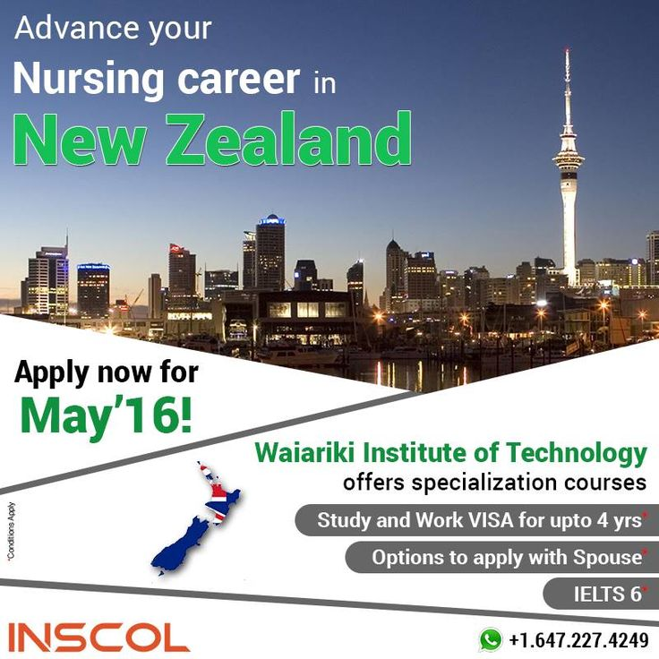 Great Opportunity for Nurses who wish to 'Study, Work and Live' in New Zealand.