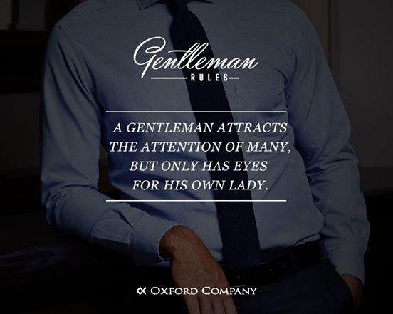 Gentlleman Rules. Βασικοί κανόνες ανδρικής συμπεριφοράς!