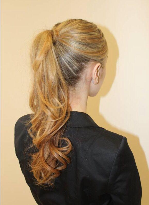 Curly High Ponytail Hair Amp Makeup Pinterest High