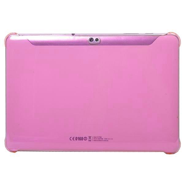 Slim Series (Rosa Gjennomsiktig) Samsung Galaxy Tab 10.1 P7500 Deksel