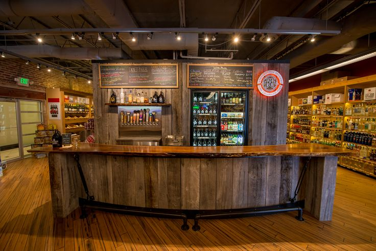A liquor store in Canton, Baltimore had Maryland Wood Countertops commission a custom bar top to update their image. It is a live edge, walnut countertop that is a bookmatch, end to end construction style. The bar is used as a beer-tasting bar within the liquor store and proves to withstand use and exposure to moisture and other factors.