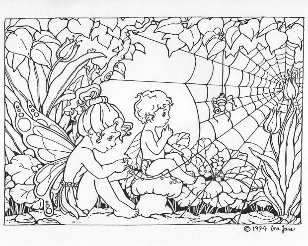 garden pixie coloring pages - photo #24