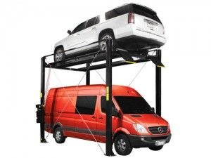 """The Atlas® ST-7000 has arrived at Greg Smith Equipment Sales.  This extra tall four post storage lift has been """"on the drawing board"""" for over a year.  We have had many customers ask us for a 4 post lift that goes """"extra high"""" to either store an extra tall vehicle under the raised car or to raise a car high enough to be stored on the second floor of a building."""