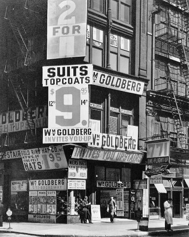 Berenice Abbott / William Goldberg, 771 Broadway at East 9th Street - ca. 1935-39 / © Berenice Abbott/Commerce Graphics Ltd, Inc.