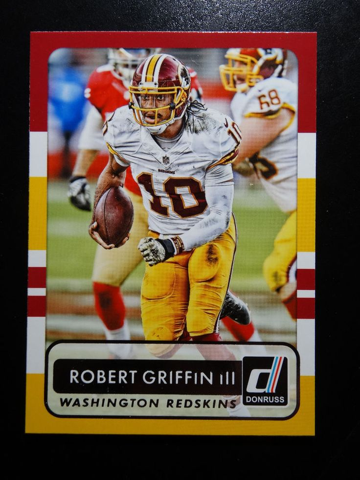 2016 Panini Donruss #26 Robert Griffin III Washington Redskins Card #WashingtonRedskins