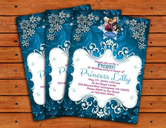 1000+ images about Frozen Invitations on Pinterest | Birthday ...