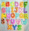 Boys Girls Alphabet Letters Embroider...