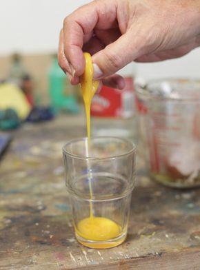 How to make egg tempera