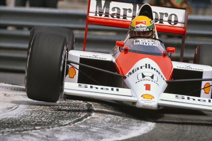 1989 Monaco Grand Prix. Monte Carlo, Monaco. 4th -7thMay 1989. Ayrton Senna (McLaren MP4/5 Honda) 1st