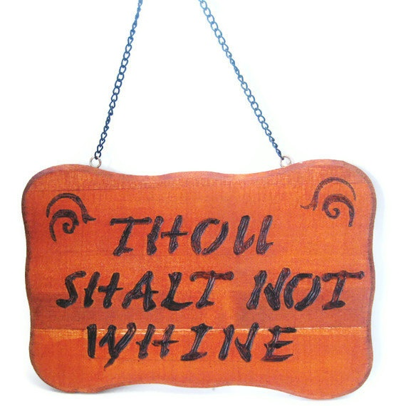 Wood burned funny sign With chain ready to hang by KnottyNotions, $20.00--I need thisfor every room in my house!