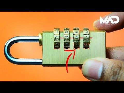 (12) How to crack a combination lock in seconds! - NO TOOLS (life hack) - YouTube