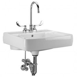 zurn z5310 20 inch x 18 inch wall hung lavatory sink with 10010