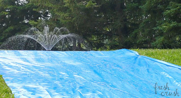 Have some good old fashioned Summer fun with the family with this DIY slip-n-slide! Just a few simple steps to a whole lotta slip and slide action!