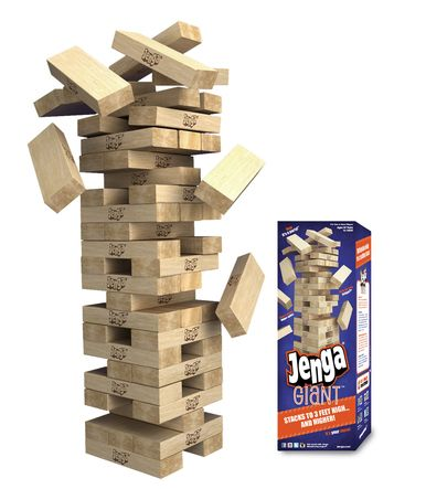 Jenga XXL and Jenga Giant are the only genuine licensed giant Jenga Brand games!