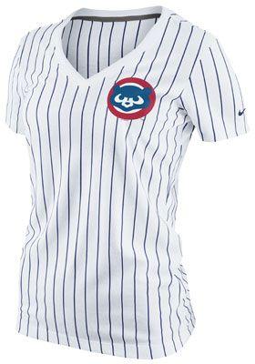 Nike Chicago Cubs Women's Pinstripe Ole Faith T-Shirt