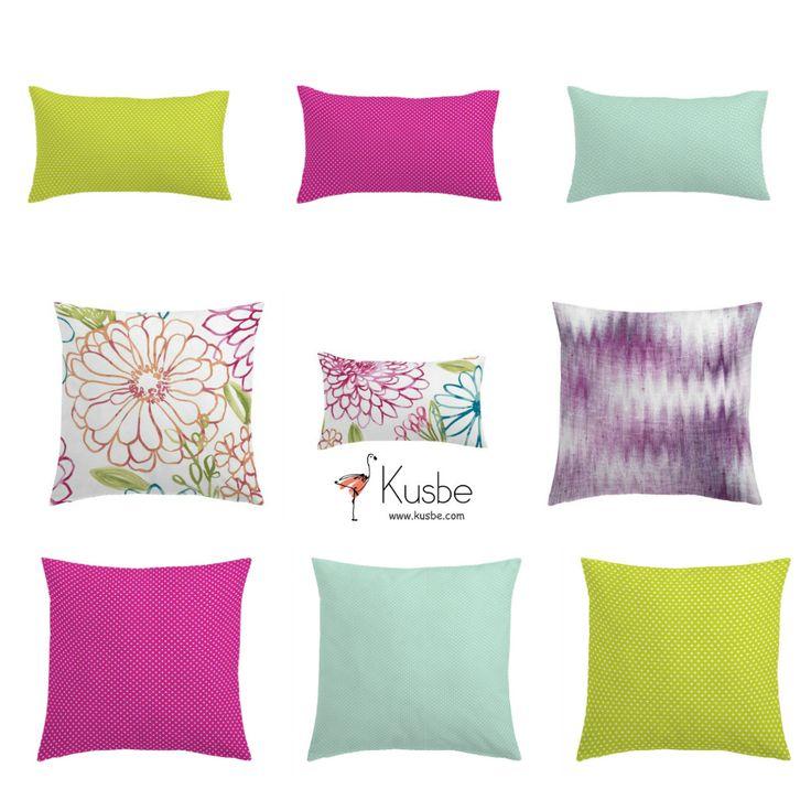 ¡Pon un poco de color en tu vida! Fundas de Cojín con colores vivos y alegres. Entra en Kusbe https://kusbe.com/