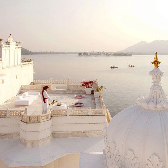 The Taj Lake Palace Udaipur a sumptuous dream hotel.