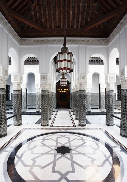 living geometry in shapes & patterns | La Mamounia, Marrakech designed by Jaques Garcia