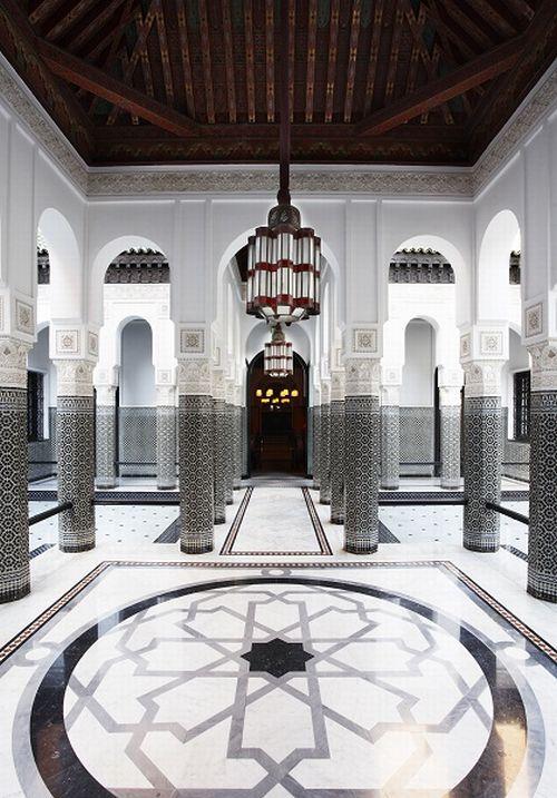 Grand. La Mamounia, Marrakech, designed by Jaques Garcia.