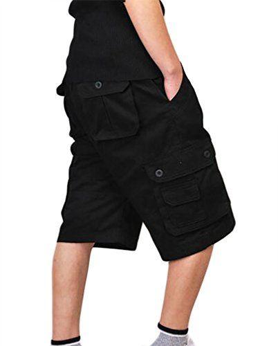 ZKOO Suelto Cortos Pantalones Cargo Hombre Bermuda Cortos con Multi-bolsillo  Verano Outdoor Corto Pantalón 8a397eff16f2