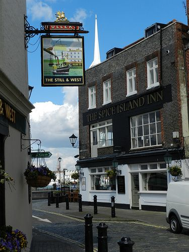 Two great pubs in Old Portsmouth, The Spice Island Inn and The Still & West..