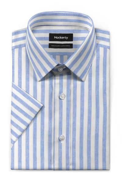 Blue short sleeved striped linen Shirt https://www.hockerty.com/en-us/men/shirts/8268-blue-short-sleeved-striped-linen-shirt