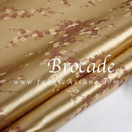 Tissu Kimono Beige. Fleur cerisier. Vendu par 50cm. SB100885 : Tissus Habillement, Déco par fabricasians