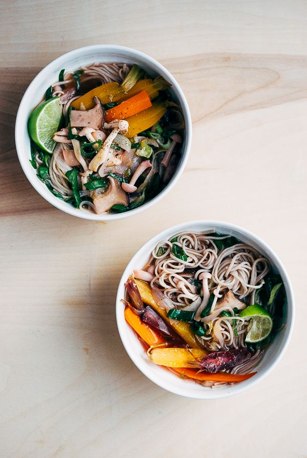 Beef Bone Broth with Spring Vegetables and Soba Noodles (recipe) / by Brooklyn Supper