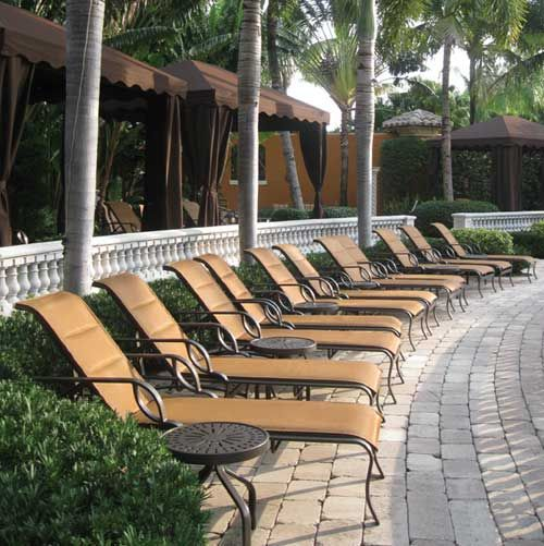 Eclipse Padded Slings Surround The Pool Area At The Mirasol Country Club In  Palm Beach Gardens · Beach GardensOutdoor Pool FurniturePalm ...