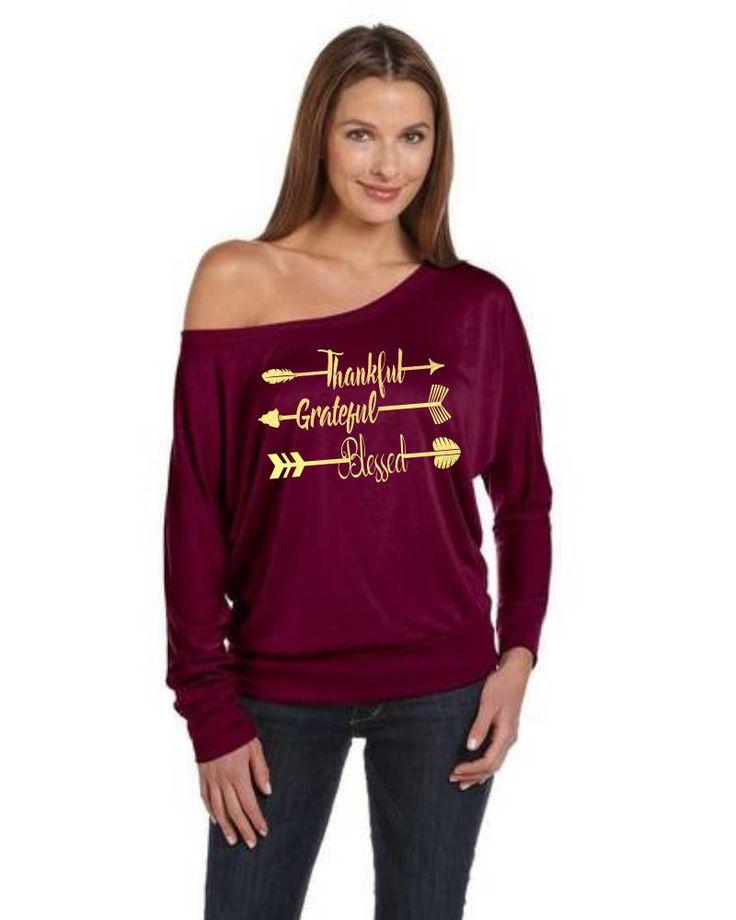 Thankful, Grateful, Blessed, Thanksgiving shirt, holiday, turkey day, Turkey Shirt, Thankful Shirt, arrow shirt, tribal shirt, rustic shirt by jilovalcustoms on Etsy