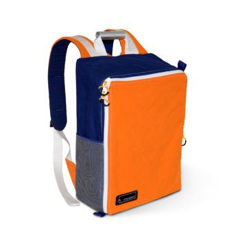 Canvas backpacks created from reclaimed retro tents. Individually handmade in the UK. Each bag is a unique, one of a kind creation. Being made of tent material makes them light-weight, water-resistant, durable and adventure-ready.