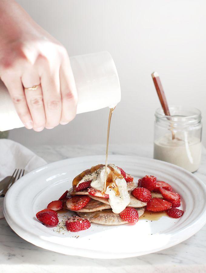 Revolutionary Pancakes or waffles sprouted whole grain buckwheat saraceno
