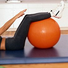 10 workouts with a fitnessball