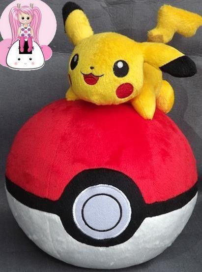 Peluche pikachu on the round ball