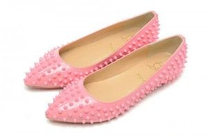 Beauty Pink Christian Louboutin Pigalle Flats Spiked   Christian ...