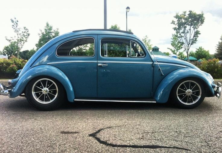 Vintage oval window Volkswagen beetle